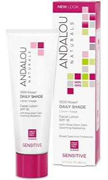 Andalou Naturals 1000 Roses Daily Shade Facial Lotion Spf 18