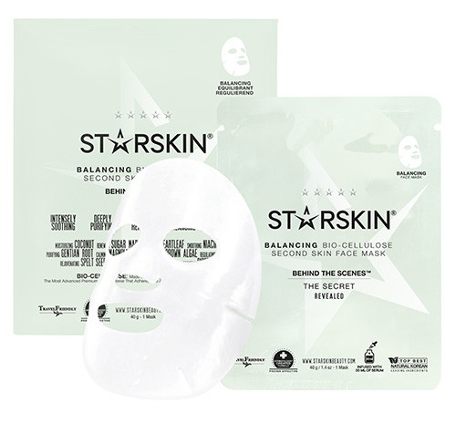 STARSKIN Behind The Scenes Balancing Bio Cellulose Second Skin Face Mask