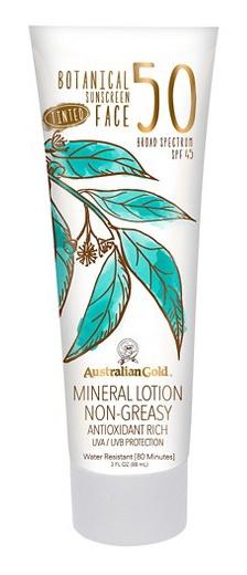 Australian Gold Botanical Spf 50 Tinted Facial Lotion