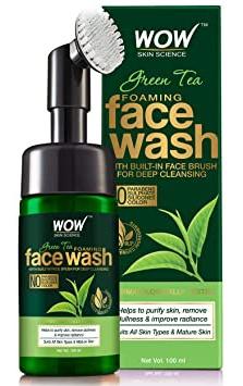 WOW skin science Wow Green Tea Foaming Face Wash