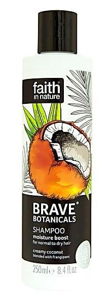 Faith in Nature Brave Botanicals Moisture Boost Coconut & Frangipani Shampoo