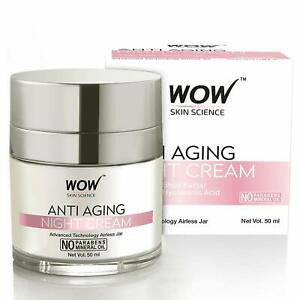 WOW skin science Wow Skin Science Anti Aging No Parabens & Mineral Oil Night Cream