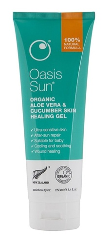 Oasis Beauty Aloe Vera & Cucumber Skin Healing Gel