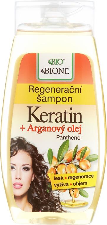 Bione Cosmetics Regenerating Shampoo - Keratin + Argan Oil