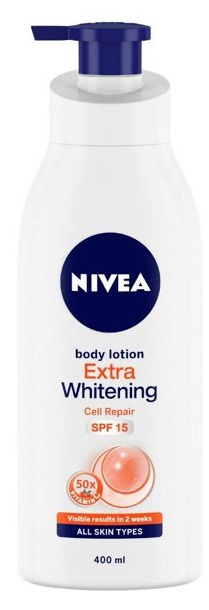 Nivea Extra Whitening Cell Repair And Uv Protect Body Lotion Spf 15