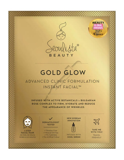 Seoulista Beauty Gold Glow Advanced Clinic Formulation Instant Facial