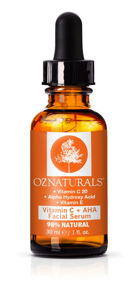 OZNaturals Vitamin C + Aha Facial Serum