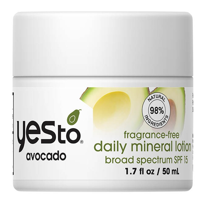 Yes To Avocado Fragrance-free Daily Mineral Lotion SPF 15