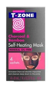 T zone Charcoal & Bamboo Self-Heating Mask