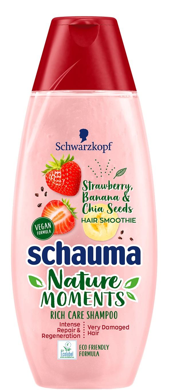 Schauma Nature Moments Hair Smoothie Strawberry, Banana & Chia Seeds