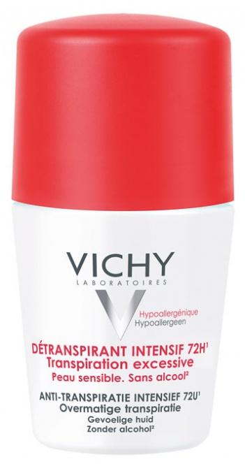 Vichy Deodorant 72H Intensive Detranspirant - Roll-On