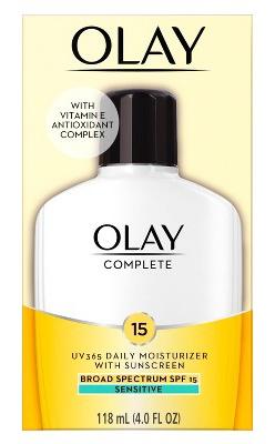 Olay Complete All Day Moisturizer Sensitive Skin - Spf 15