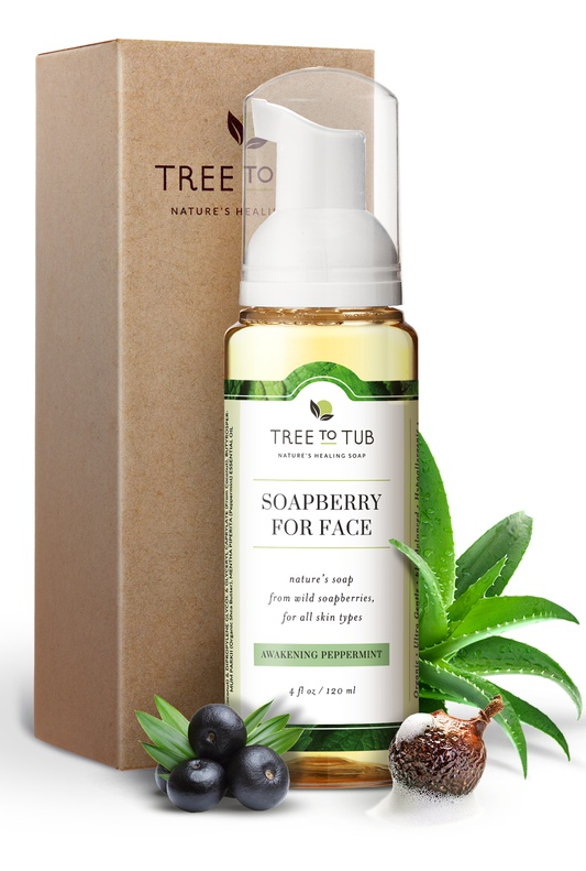 Tree to Tub Soapberry Facial Cleanser Awakening Peppermint