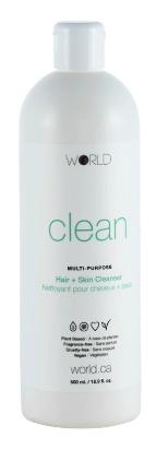 WORLD Clean Multi-Purpose Hair & Skin Cleanser