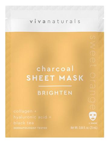 Vivanaturals Charcoal Sheet Mask Brighten