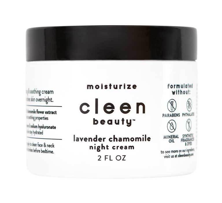 cleen beauty Lavender Chamomile Night Cream