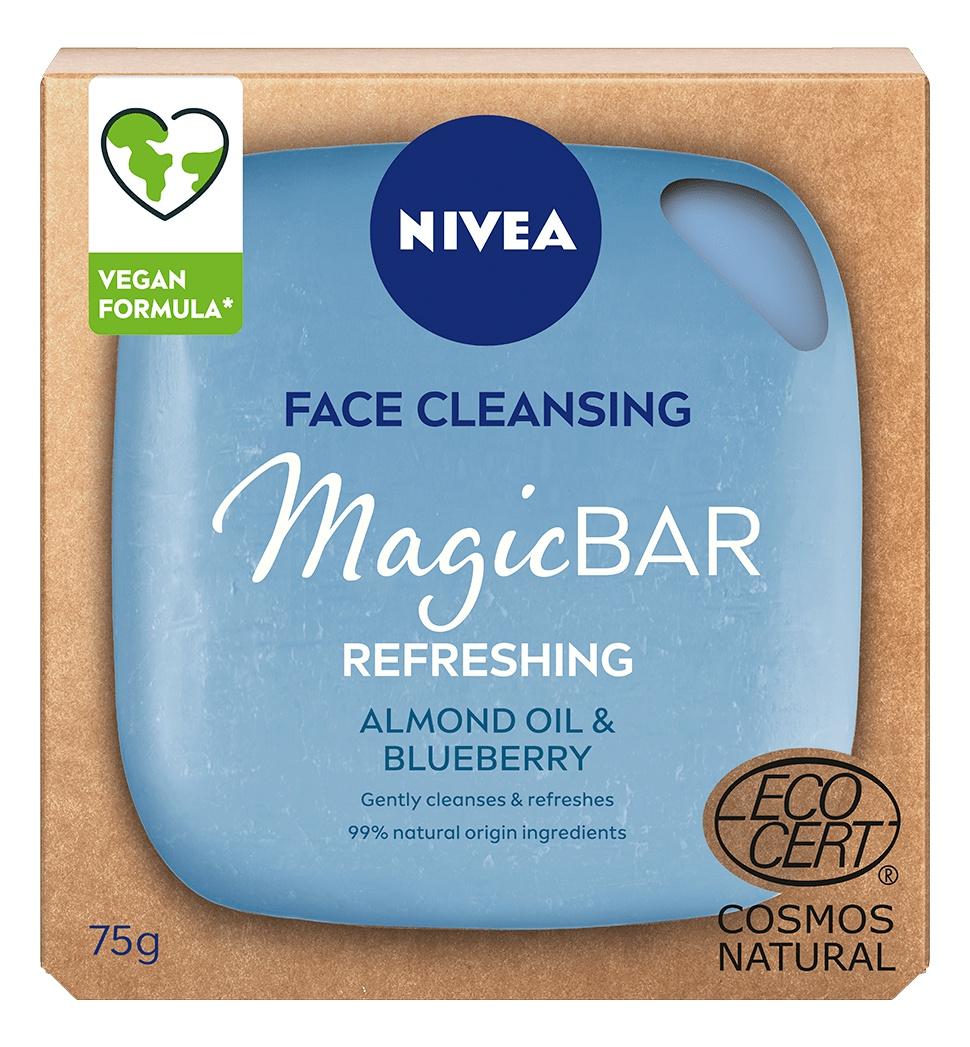 Nivea Magicbar Refreshing Vegan Face Cleansing Bar Almond Oil