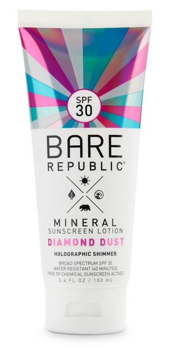 Bare Republic Mineral Sunscreen Lotion Diamond Dust Holographic Shimmer