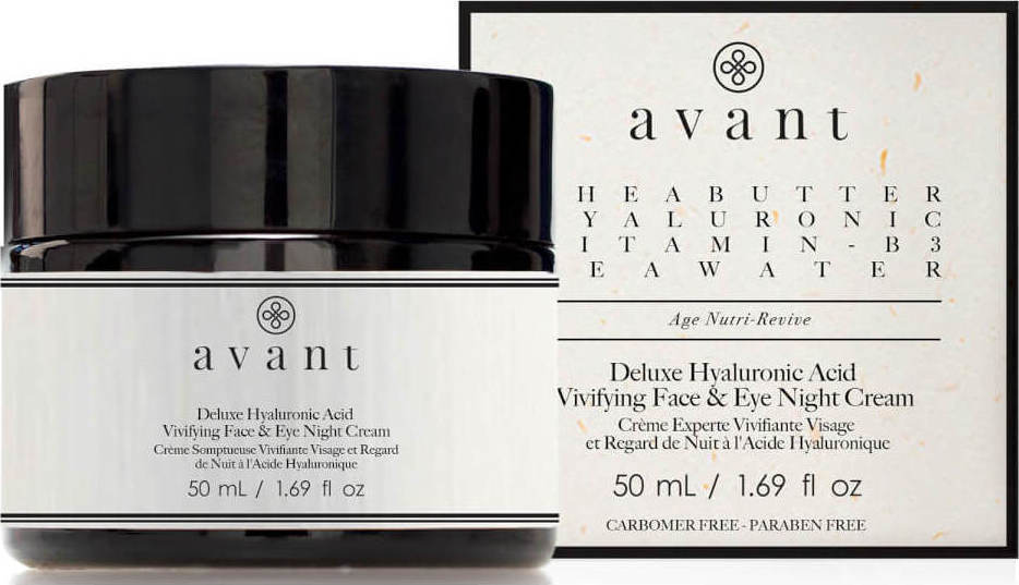 Avant Deluxe Hyaluronic Acid Vivifying Face & Eye Night Cream