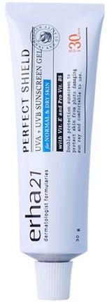 Erha21 Perfect Shield UVA + UVB Sunscreen Gel For Normal & Dry Skin Spf 30 PA ++
