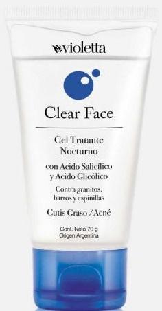Violetta Clear Face Gel Tratante Nocturno