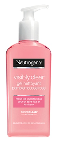 Neutrogena Visibly Clear Gel Nettoyant Pamplemousse Rose