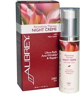 Aubrey Organics Revitalizing Therapy Night Cream, Dry Skin