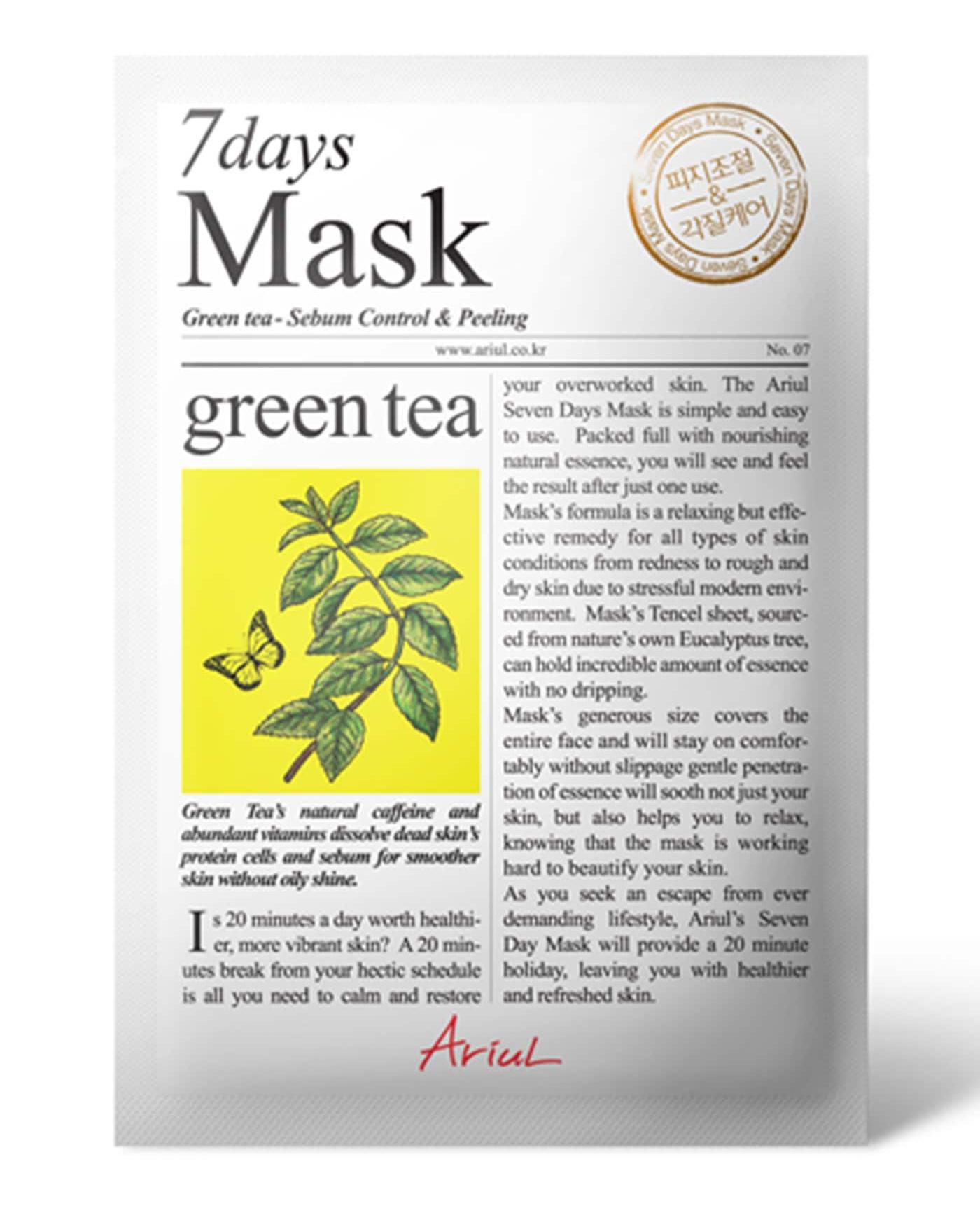 7 days mask Green Tea - Sebum Control & Peeling