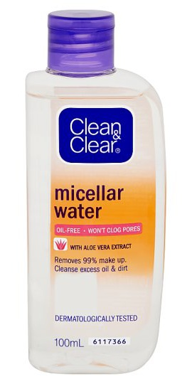 Clean & Clear Micellar Water Oil-Free With Aloe Vera Extract