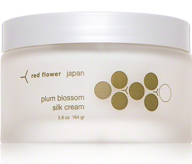 Red Flower Plum Blossom Silk Cream