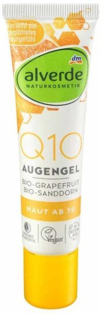 alverde Q10 Augengel Bio-Grapefruit, Bio-Sanddorn