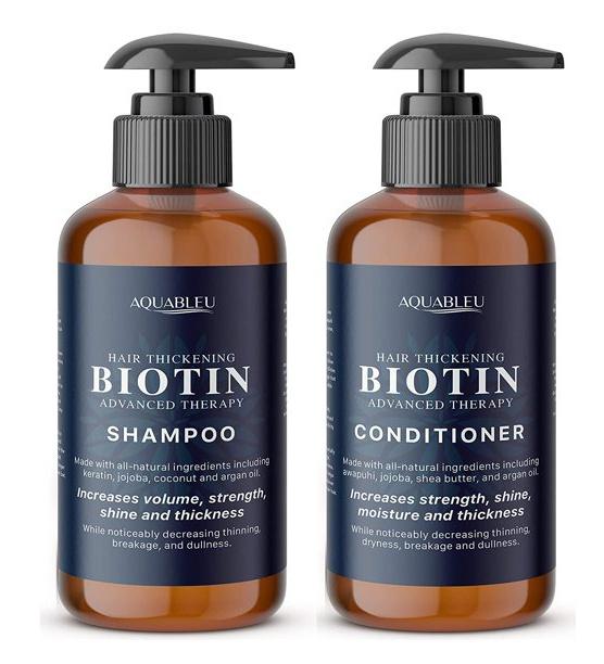 Aquableu Biotin Moisturise And Revitalise With B-Complex Shampoo & Conditioner Set