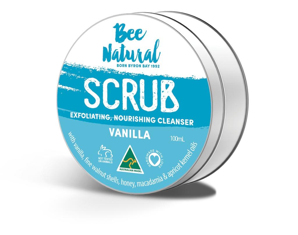 Bee Natural Scrub Exfoliating Nourishing Cleanser Vanilla