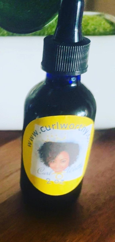 CurlWorthy Growth Oil