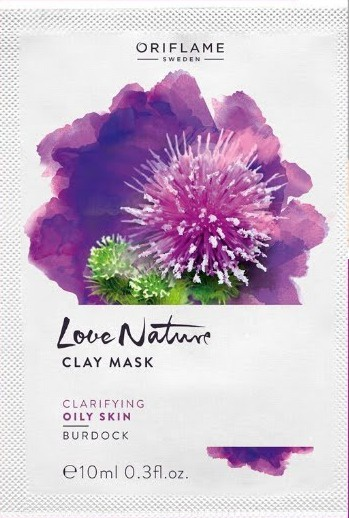 Oriflame Clay Mask With Burdock Love Nature