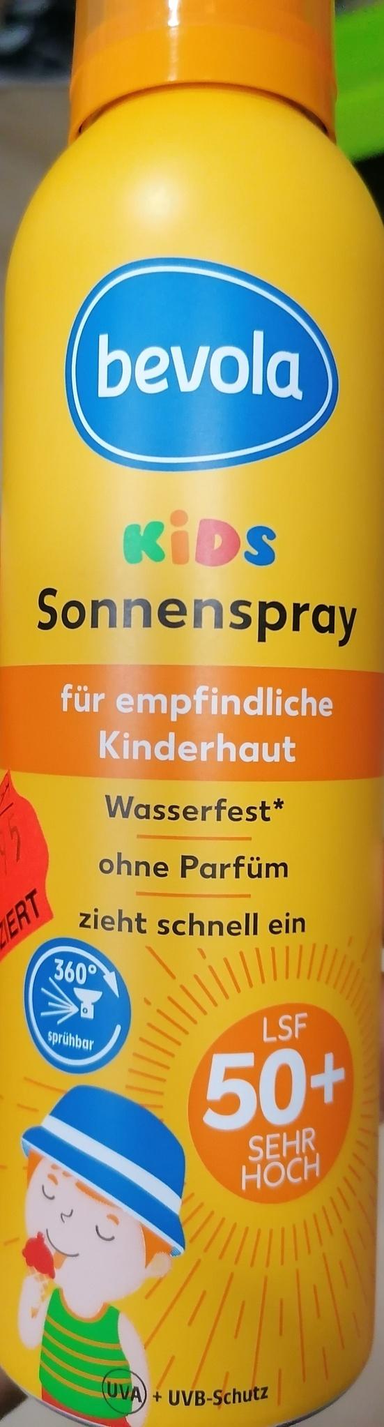 bevola Kids Sonnenspray LSF 50+