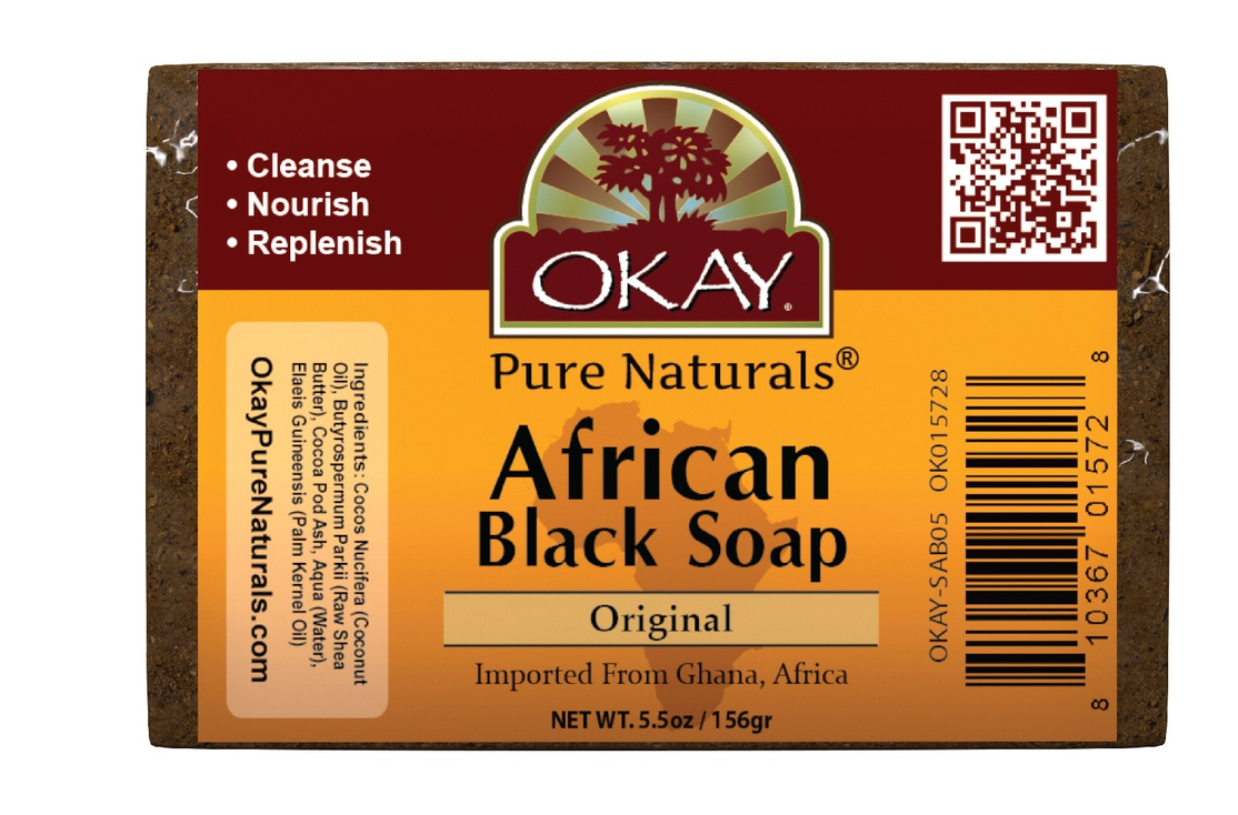 Okay Pure Naturals African Black Soap, Original