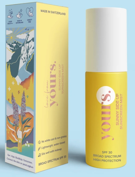 yours skincare Sunny Side Up SPF 30 Sunscreen Mist