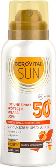 Gerovital Loțiune Spray Protecție Solară Copii SPF 50 Sun/ Kids Sunscreen Spray Lotion SPF 50 Sun