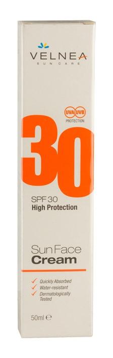 VELNEA Sun Face Cream SPF30 High Protection