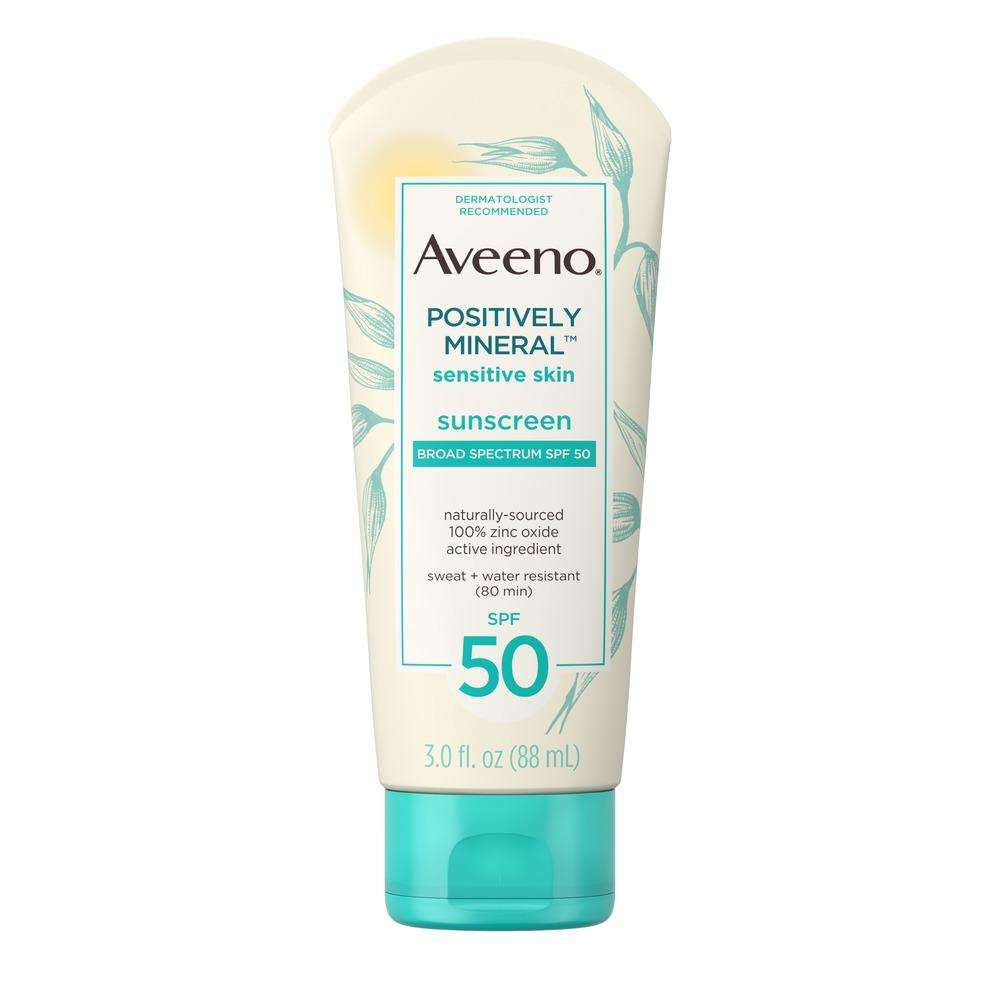 Aveeno Sensitive Skin Spf 50 Mineral Sunscreen