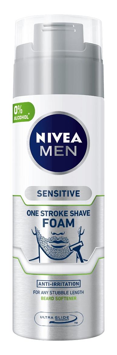 NIVEA MEN Sensitive One Stroke Shave Foam