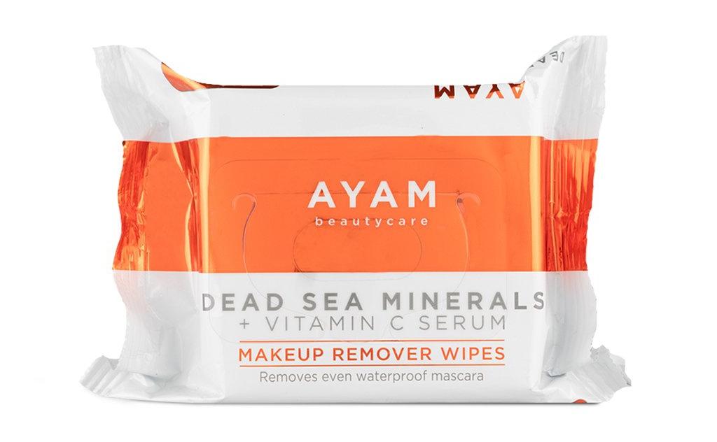 Ayam Beauty Care Dead Sea Minerals Vitamin C Serum Makeup Remover Wipes