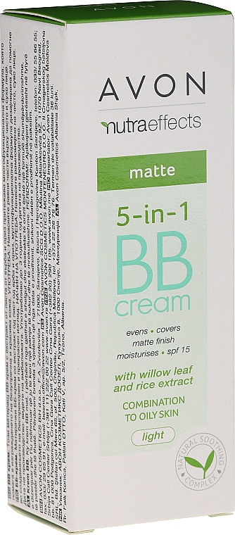 Avon nutraeffects Matte BB Cream With Willow Leaf And Rice Extract Combination To Oily Skin