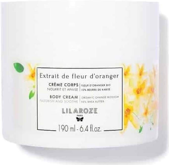 LilaRoze Body Cream With Organic Orange Blossom And 10% Shea Butter