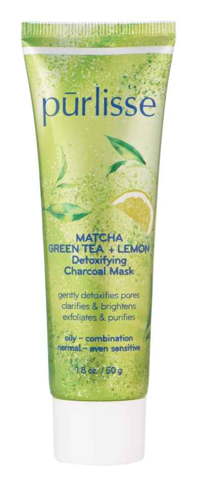 Purlisse Matcha Green Tea + Lemon Detoxifying Charcoal Mask