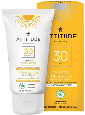 Attitude Mineral Sunscreen Spf 30 Tropical