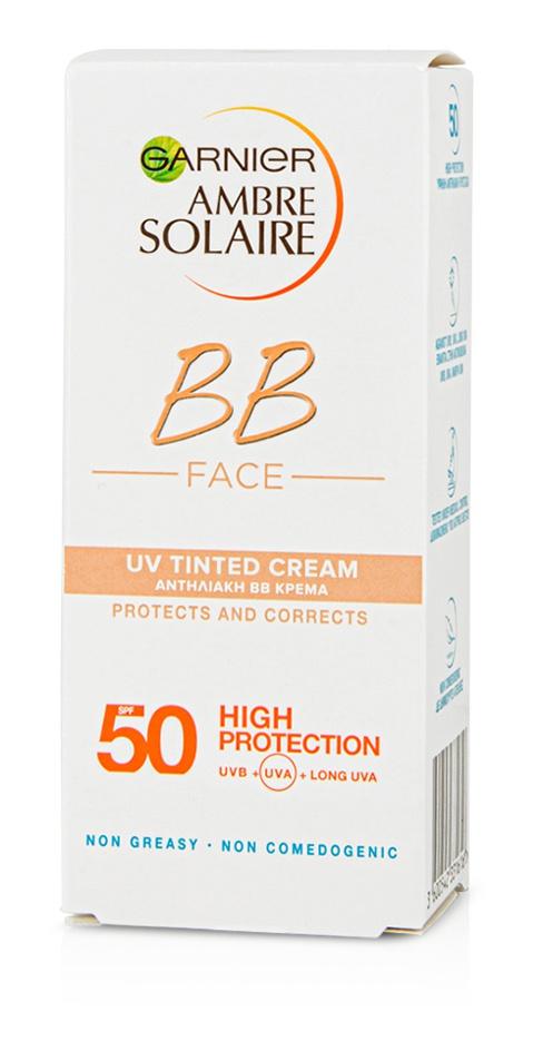 Garnier Ambre Solaire BB Face UV Tinted Cream SPF 50