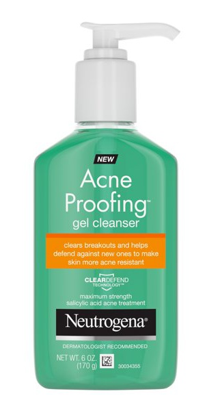 Neutrogena Acne Proofing Gel Facial Cleanser with Salicylic Acid