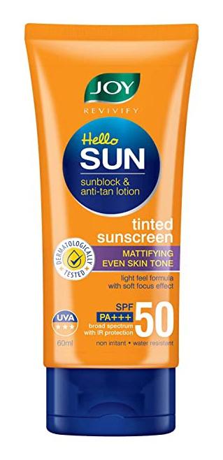 Joy Revivify Hello Sun Sunblock & Anti-Tan Lotion Sunscreen Spf 50, Pa+++